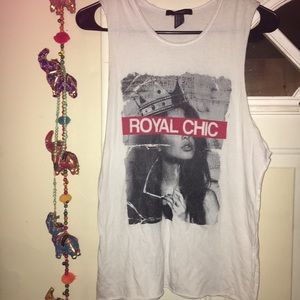 Forever 21 graphic muscle tank top